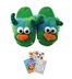 kreative kids green monster slippers size