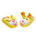 stompeez peek-a-boo kitty comfy slippers leave